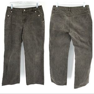 Sundance Faded Black Mid-Rise Wide Leg Jeans Sz 10